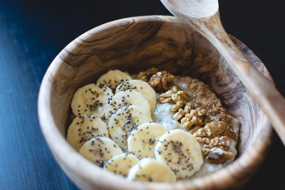 Banan  z chia i orzechami