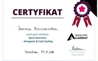 Dieta ketogeniczna – certyfikat
