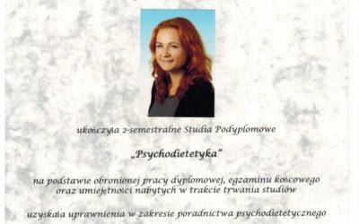 Psychodietetyka – Dyplom